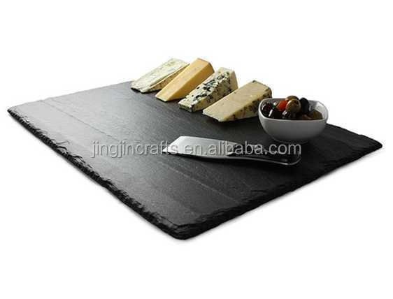 silk printing black customized slate placemat
