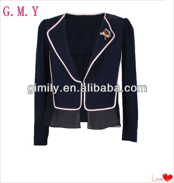 Wholesale polo neck chiffon women church suit