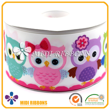 "Wholesale 3"" Cute Eagle design heat transfer printing ribbon for hair decoration"