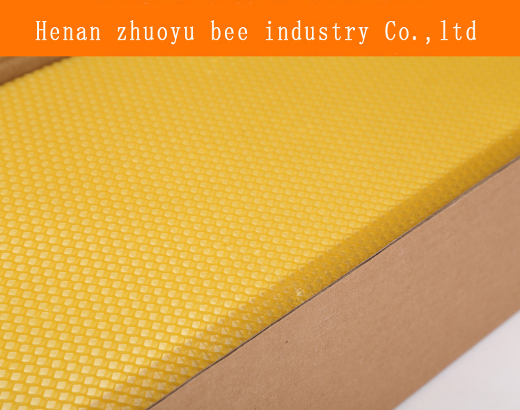beeswax deep foundation sheet for langstroth beehive or customized size