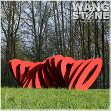 Red Modern Abstract Garden Large Sculptures For Sale