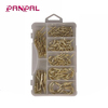 Wholesale 101pcs iron brass plated screw hanging cup hook