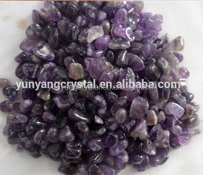 3-5mm/5-7mm/7-9mm Natural rock amethyst quartz <strong>crystal</strong> tumbled stone