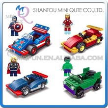 Mini Qute Senye 4pcs/set Marvel Avenger super hero Batman Chariot building block action figures educational toy NO.SY 189