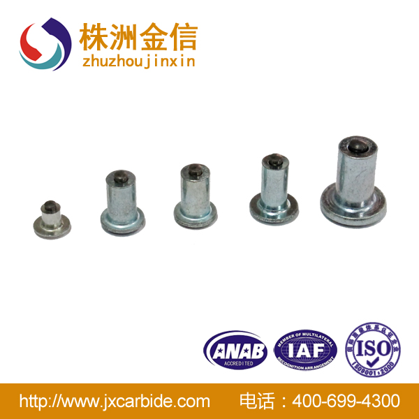 Cemented carbide tire studs and stud pins for motor bike