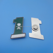 2015 Newest customized shape flag pin badge for SAUDI ARABIA national day