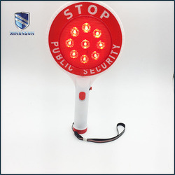 lithium battery rechargeable Traffic Safety Plastic Hand Held Stop Signs