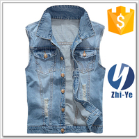 custom new design denim vest for women
