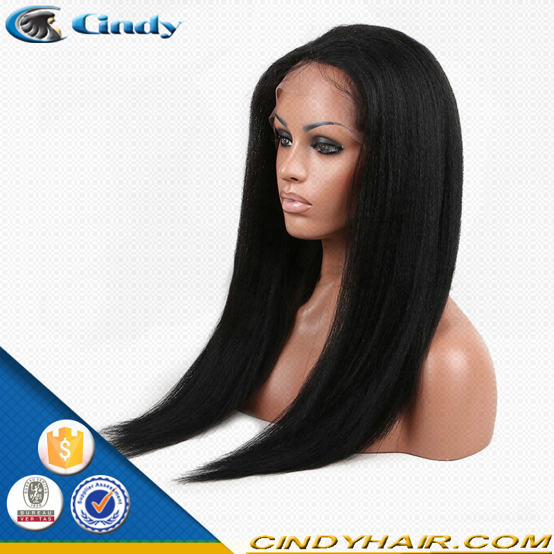 italian yaki brazilian silk top glueless full lace wigs 150 density with natural hairline
