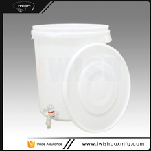30 Liter Food Grade Plastic Water Bucket With Spout Tap And Lid For Bear Barrel