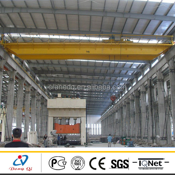 QD Model Mechanical Workshop Equipment Overhead Crane 8 Ton