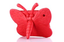 EVA 3D butterfly kids proof holder case for ipad 2/3/4