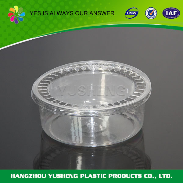 Recycling and non-toxic clear plastic round cake box,cake box