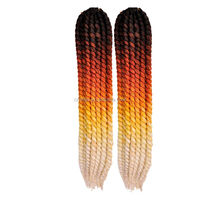 (Black/Orange/Yellow/White ) Dropshipping 3 Packs 22inch 115grams 12 roots Synthetic crochet braids with synthetic hair twist