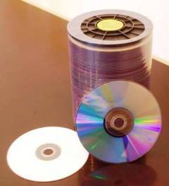 Inkjet Printable DVDR Blank Recordable Disc