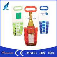 BF-JT21 gel Wine Bottle table Cooler bag, Gel ice pack bottle cooler