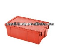High Quality Red Color Plastic Lid Container for Sale