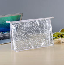 Custom waterproof mini beauty ladies makeup bags private label travel clear pvc cosmetic bag