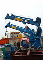 Electric Hydraulic Telescopic Boom Marine Lifting Bulk Cargo Crane For Sales