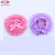 Wholesale 2017 newest design baby blanks infant ruffle bloomers chiffon comfortable fashion solid color skirted baby bloomers