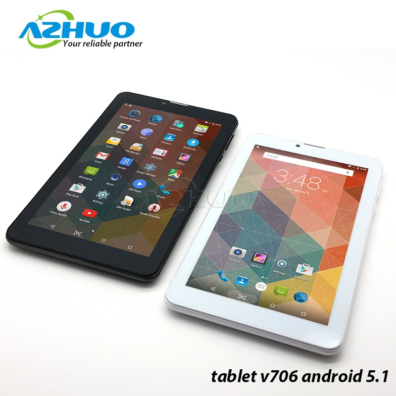 Wholesale Quad Core 3G Tablet 7 inch IPS Android 5.1 with 1024*600 GPS