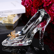 Decorative Crystal Glass Shoes For Crystal Wedding Gift