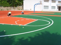 EPDM Basketball Rubber Court, Colored EPDM rubber Granules for many kinds of sports playground-FN-A-16011402