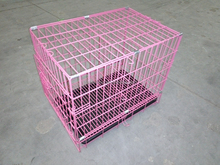 red color dog cage with divider hot sales in USA market pet cages