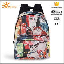 Promotional Hot Style Durable casual Lightweight Waterproof beautiful hologram girl backpacks