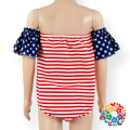 4th Of July Kids Rompers And Playsuit Off The Shoulder Baby Girl Trendy Romper Baby Clothes Bodysuits