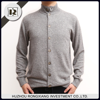 Latest sweater designs men's shrug sweater with button cardigan