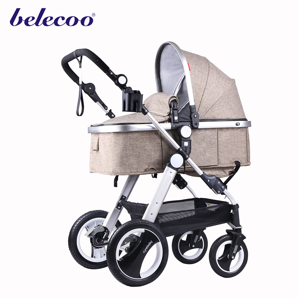 535-S organic linen fabric series good baby stroller with EN1888 certificate