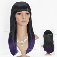 Beauties Factory Synthetic Ombre Long Straight Cosplay Brown Full Hair Wig 1909X