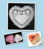 Colored Food Grade Heart Paper Doily for Christmas