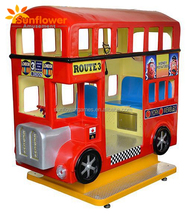 Coin Operated Kids Game London Bus Kiddie Rides Car Arcade Game Machine Two Colors