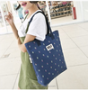 2015 New Style Big Capacity Canvas Shopping Bags for Women Shoulder Shopping Bags Print Handbags Casual Shopping Bags