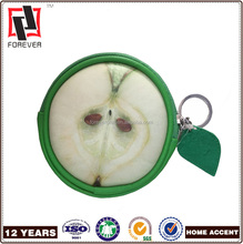 Wholesale Popular Product Leather Coin Purse Fruit Purse Key Chain Coin Purse for Women from Chinese Wallet Factory