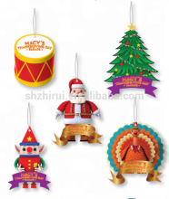 Christmas series hanging paper car air freshener