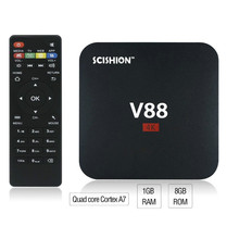 V88 Smart TV Box 4K 1G + 8G Android 6.0 Quad Core KD16.1 HD Películas Deportivas Gratis