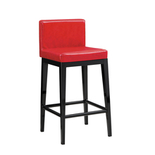 Red leather high chair with backs for bar table modern furniture metal bar chair prices pictures