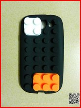 2012 new style Brick Block silicone cover case for iphone 4