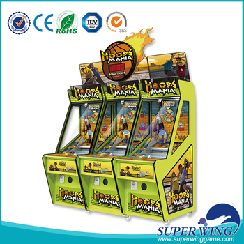 Superwing 2017 indoor redemption shooting coin game machine hoops mania for sale