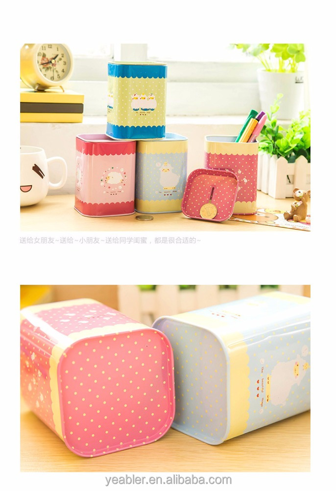 Decorative Indian bee honey suitcase metal boxes wedding tin gift box tin case saving box