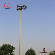 15 meter single pole tubular antenna high towers lighting / mast light tower
