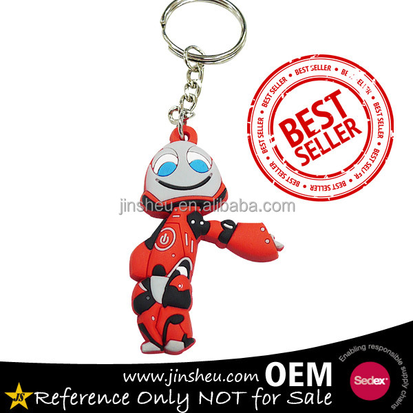 Personalized Cute Movie Custom Robot Soft PVC Rubber Key Holder