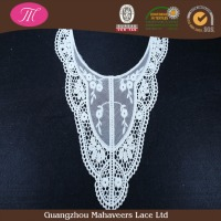Guangzhou factory Special design white lingerie cotton ladies crochet collar chemical neck lace