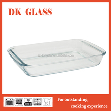 1.5L 2L 2.9L Rectangular Oven Safe Pyrex Glass Baking Tray/Glass Baking Dish