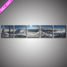 5 Panels Modern Frame Picture Ice View Poloar Region Scenery Canvas Wall Art Print For Hotel Home Decor