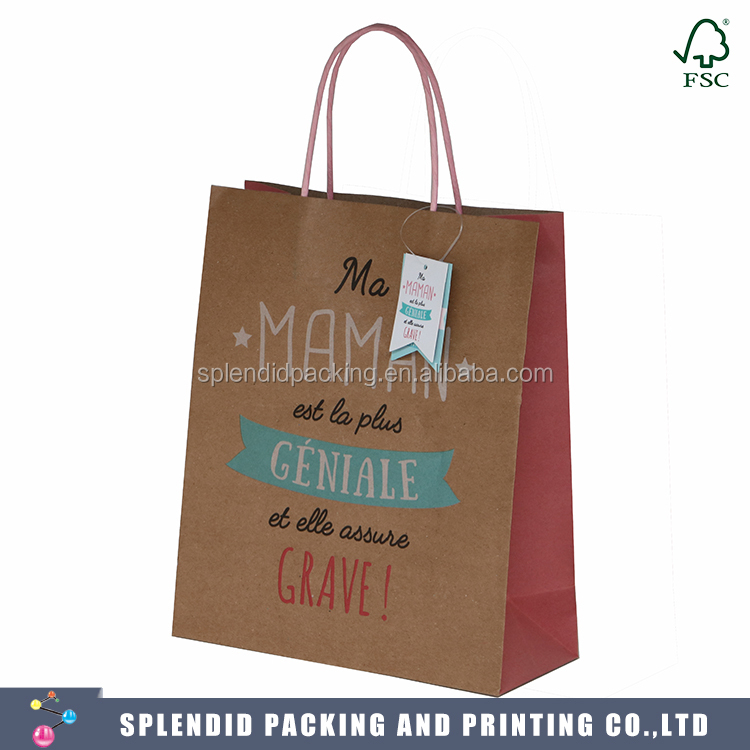 XBL-0808 Wholesale bulk paper wine bottle gift bag