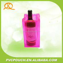 High Quantity Transparent pvc pink Ice bag for wine, ice bag, ice cooler bag